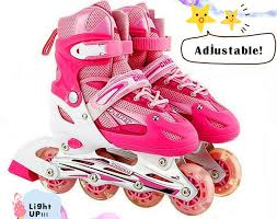light up inline skates and children adjustable lighting inline skate rollers all