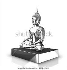 meditating buddha statue vector stock vector 163213454