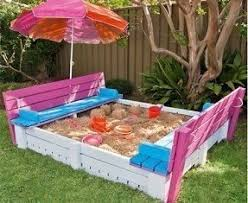 Build A Sandpit In Your Backyard Wood Sandbox With Cover Foter