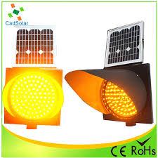 Solar Traffic Light - amber flashing solar traffic light 300mm battery powered warning