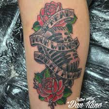 kline family ink traditional microphone and rose u0027s tattoo kline