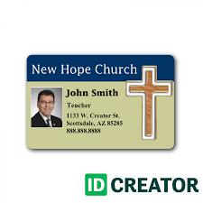 free custom id card templates by idcreator make id badges