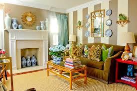 in the livingroom atlanta estate bold color antiques highlight tour home