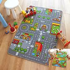 Childrens Play Rug Children U0027s Play Village Mat Town City Roads Rug 95cm X 133cm 3ft