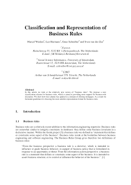 classification and representation of business rules pdf download