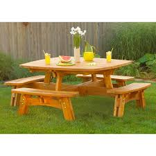 Plans For Outdoor Picnic Table by Fun In The Sun Picnic Table Woodworking Plan From Wood Magazine