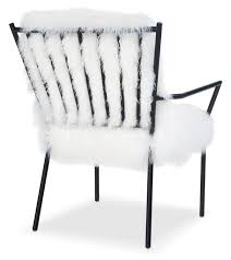 Black And White Accent Chair Lara Sheepskin Accent Chair Black And White Value City