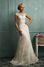 s wedding dress lovely a line lace wedding dress with sleeves cherry