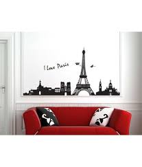 Eiffel Tower Wall Decals Stickerskart Black Vinyl City Skyline Silhouette Paris Eiffel