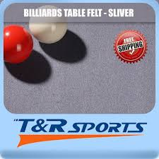 3m silver double sided wool pool table cloth