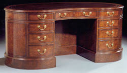 Kidney Shaped Writing Desk Shaped Executive Desk From Rof Furniture
