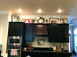how to decorate kitchen cabinets top of cabinet decor ideas kitchen cabinets decorating ideas add