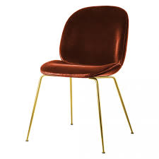 beetle dining chair terracotta with brass legs the conran shop