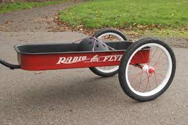 Radio Flyer Ready Ride Scooter Radio Flyer Wagon Repurposed As A Bike Trailer Bike Trailer