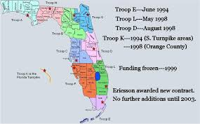 florida highway map florida highway patrol 800mhz page