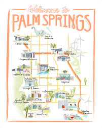 Palm Springs Map Kate Wong