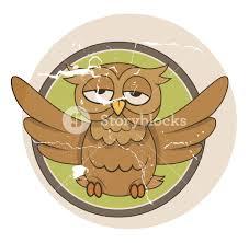 funny vintage owl halloween vector illustration royalty free