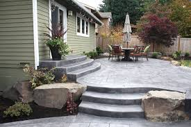 front yard concrete patio ideas the garden inspirations