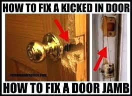 Repair Exterior Door Jamb Door Frame Repair Exterior Door Frame Repair Contemporary With