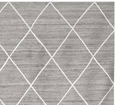 jute lattice rug gray ivory pottery barn