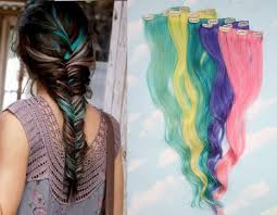 free hair extensions set of 5 pastel clip in hair colored hair extensions free