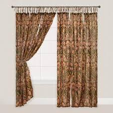 Black Floral Curtains Black Floral Crinkle Voile Cotton Curtains Set Of 2 World
