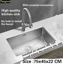 High Quality Kitchen Sinks Tangwu High Quality 4 Mm Thick Food Grade 304 Stainless Steel