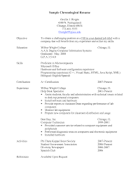 examples of chronological resume best 25 chronological resume