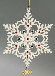 lenox annual snow fantasies snowflake ornaments series began in