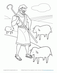 parable of lost sheep coloring pages kids coloring