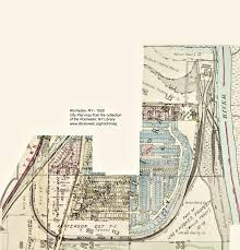 New York Map Rochester by Genesee Docks Rochester Ny