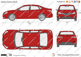 nissan sentra 2017 red the blueprints com vector drawing nissan sentra
