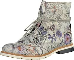 s boots uk s oliver s 25203 chukka boots silver silver flower 946