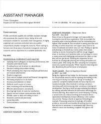 Assistant Manager Sample Resume by 54 Manager Resumes In Pdf Free U0026 Premium Templates