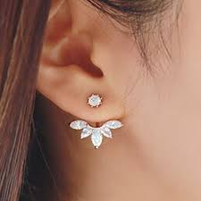 earrings for korean gold and silver plated leave stud earrings fashion statement jewelry earrings for women free jpg