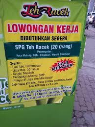 Teh Racek info malang infojobmlg