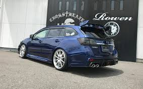 subaru wagon stance rowen subaru levorg tuning huge wing for racing wagon autoevolution