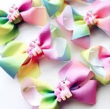 ribbon hair clip unicorn rainbow ribbon hair clip well