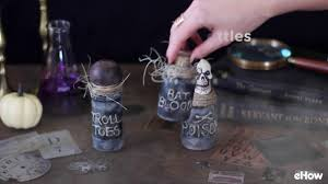 halloween decorations potion bottles how to make spooky witch u0027s jar bottle potion decorations youtube
