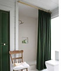 Shower Curtain Door Stunning Bathroom With Forest Green Door And Shower Curtain Also