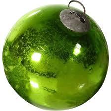 biedermeier era german kugel mercury green glass