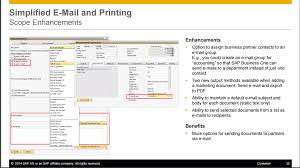 sap business one how to simplified email for sending documents to
