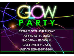 fun teen party ideas this neon glow party invitation is