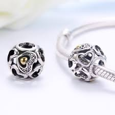 pandora charm bracelet sterling silver images New arrival 925 sterling silver heart of romance beads fit jpg