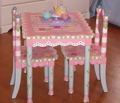 little girls table and chair set fun tea party play time activity and room decor inspiration for