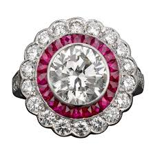 ruby bands rings images Art deco diamond and ruby ring at 1stdibs jpg