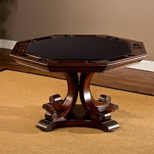 Poker Table Chairs With Casters by Hillsdale Harding 5 Piece Game Table Set Rich Cherry Hayneedle