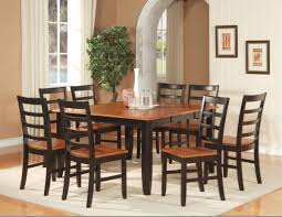 traditional looking dinette room with foldable leaf dining table