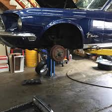 mustang auto shop brake drum to disc conversion on a 1968 mustang goss garage