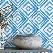 self adhesive wallpaper blue bohemian watercolor removable wallpaper self adhesive